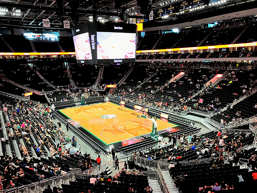 In Milwaukee, arena capacity will be 50% as the Bucks mount a playoff run.