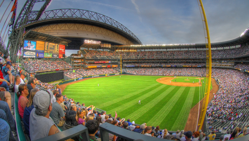 With MLB fans returning, more ballparks will look like Seattle's does here.